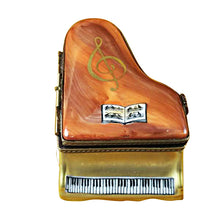 Load image into Gallery viewer, Large Brown Piano Limoges Box