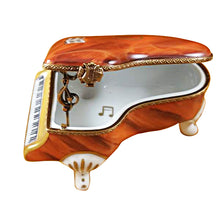 Load image into Gallery viewer, Medium Brown Piano Limoges Box