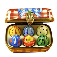 Load image into Gallery viewer, Easter Eggs with Chick Limoges Box