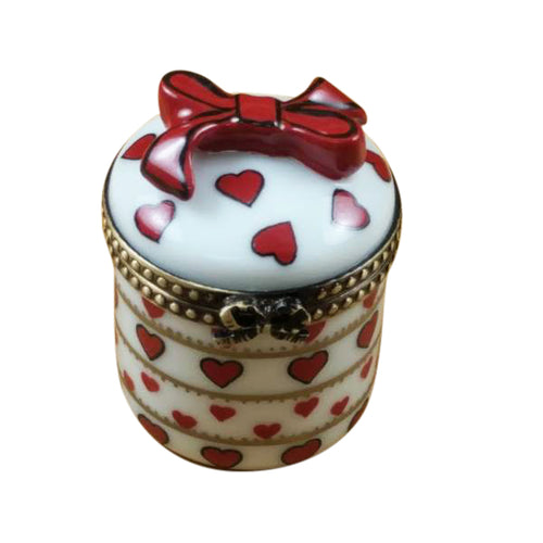 Round Valentine with Dangling Heart Limoges Box