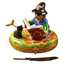 Load image into Gallery viewer, Witch/Broom/Cat Limoges Box