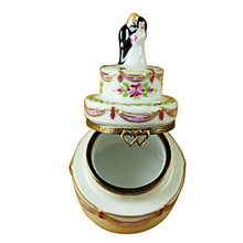 Load image into Gallery viewer, Bride and Groom Wedding Cake Limoges Box