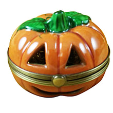 Load image into Gallery viewer, Pumpkin- Gold Inside Limoges Box