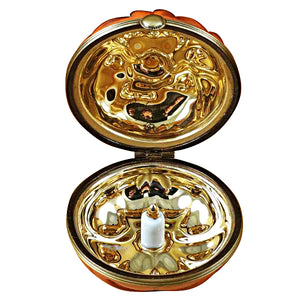 Pumpkin- Gold Inside Limoges Box