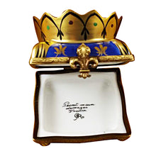 Load image into Gallery viewer, Crown on Pillow Limoges Box