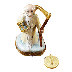Father Time Limoges Box