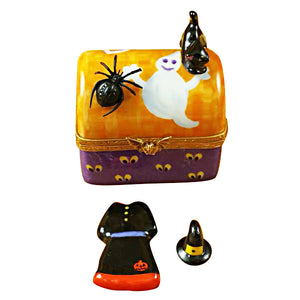 Halloween Trunk with Dress & Hat Limoges Box