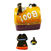 Load image into Gallery viewer, Halloween Trunk with Dress & Hat Limoges Box