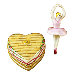 Ballerina on Heart Limoges Box