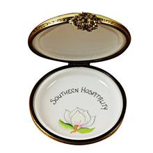 Load image into Gallery viewer, Southern Hospitality Magnolia Limoges Box