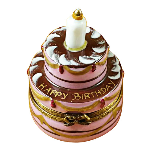 Birthday Cake with Candle Limoges Box