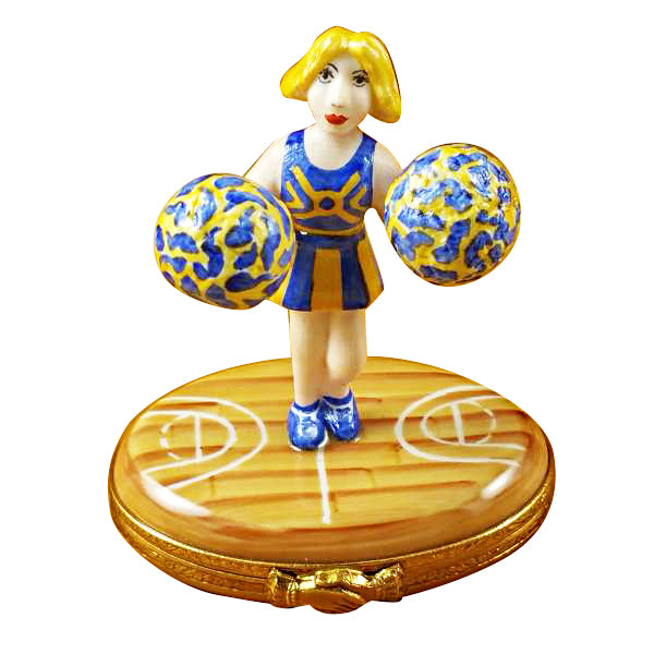 Pom-Pom Girl (Cheerleader) Limoges Box