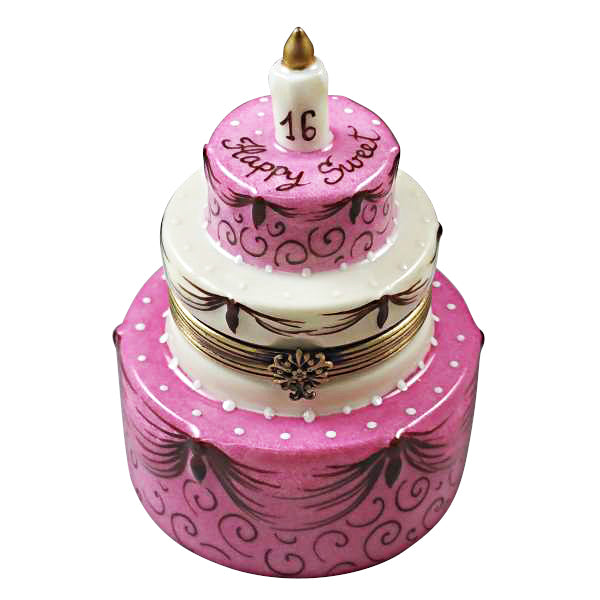 Cool Sweet 16 Birthday Cake Limoges Box Lifelong Collectibles Personalised Birthday Cards Veneteletsinfo
