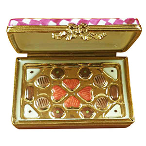 Pink/White Gift Box with Chocolates Limoges Box