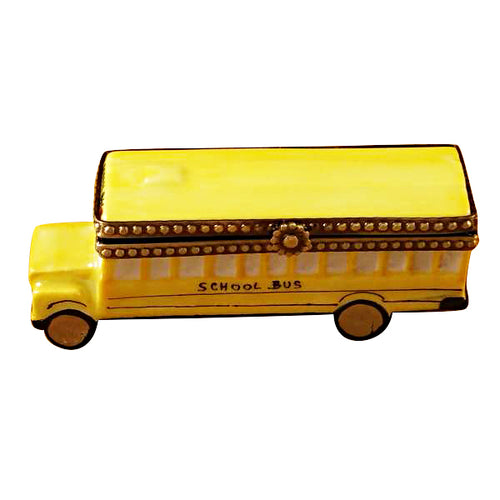 School Bus Limoges Box