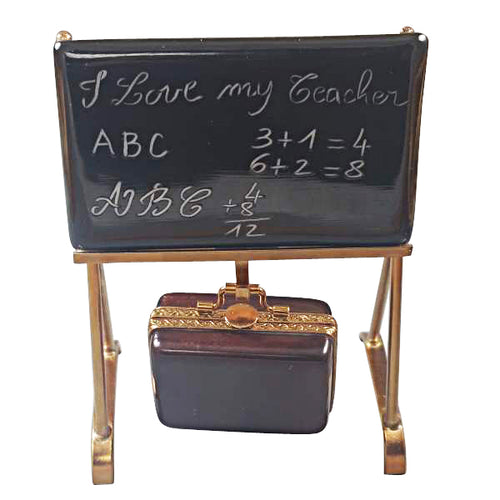 Teacher's Blackboard Limoges Box