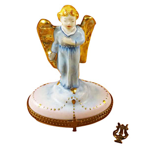 Gabriel Angel with Harp Limoges Box