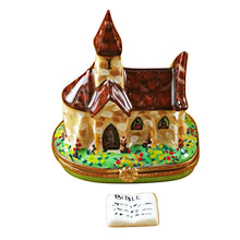 Load image into Gallery viewer, Church with Removable Porcelain Bible Limoges Box