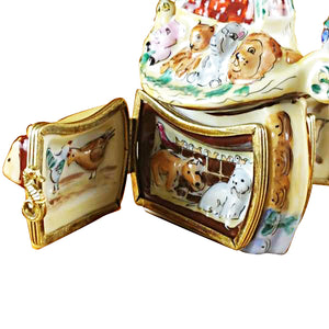 Double Hinged Noah's Ark Limoges Box