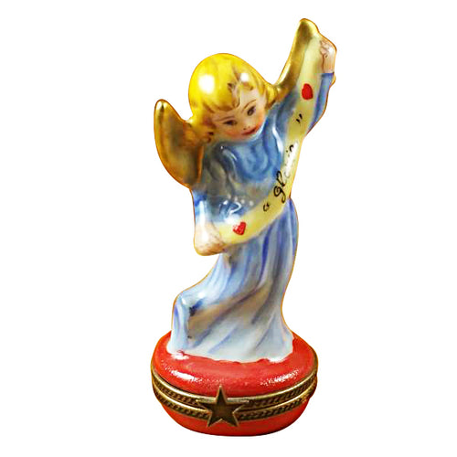 Gloria Angel on Red Base Limoges Box