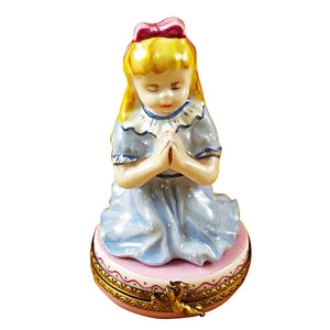 Blond Girl Praying Limoges Box
