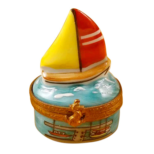 Small Sailboat Limoges Box