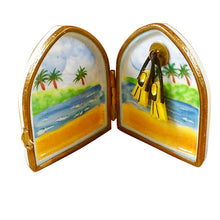 Load image into Gallery viewer, Scuba Diver's Flippers in Window Limoges Box