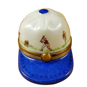 Baseball Hat with Batters Limoges Box