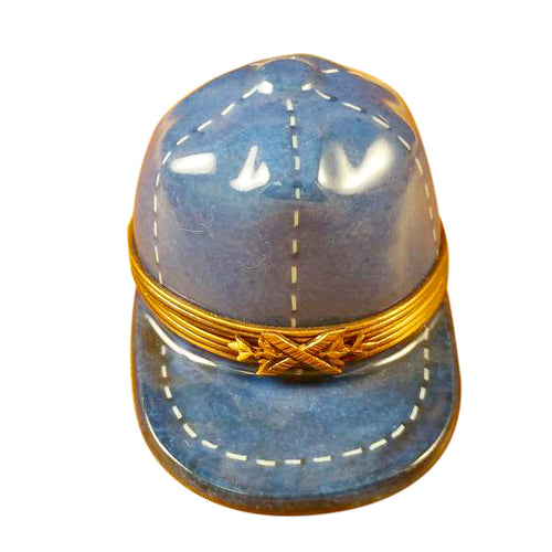 Blue Baseball Hat Limoges Box