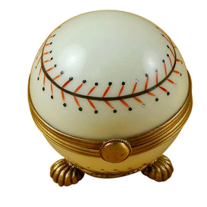 Baseball on Stand Limoges Box