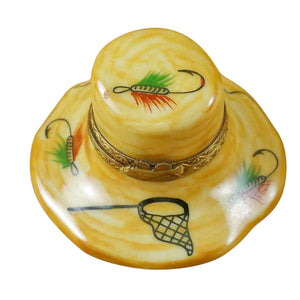 Fishing Hat Limoges Box