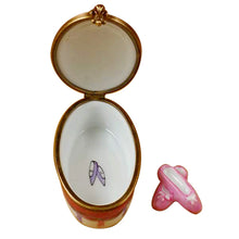Load image into Gallery viewer, Ballerina on Oval with Removable Toe Shoes Limoges Box