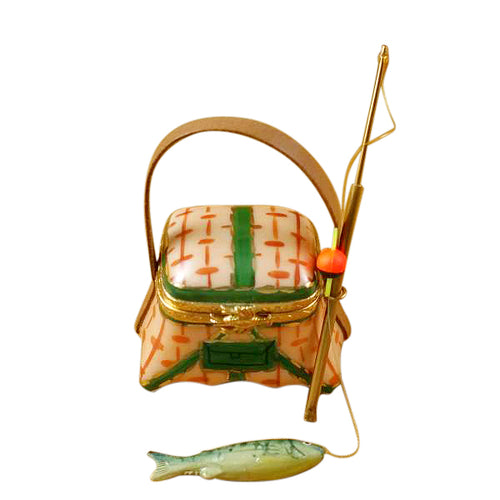 Fishing Basket with Rod Limoges Box