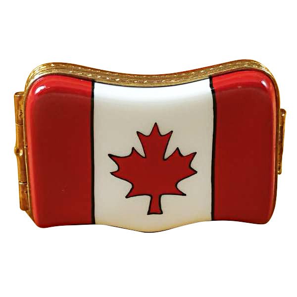 Canadian Flag Limoges Box