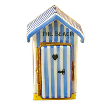 Load image into Gallery viewer, Beach Changing Hut - English Limoges Box