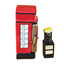 Load image into Gallery viewer, British Phone Booth with Removable Telephone Limoges Box