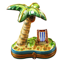 Load image into Gallery viewer, Palm Tree with Chair Limoges Box
