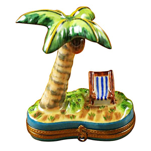 Palm Tree with Chair Limoges Box