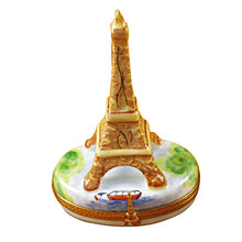 Load image into Gallery viewer, Brown Eiffel Tower Paris Limoges Box