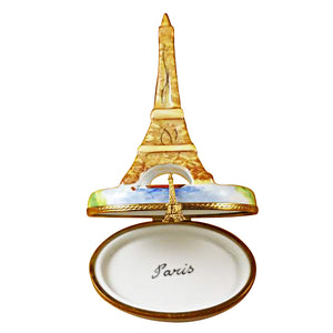 Brown Eiffel Tower Paris Limoges Box