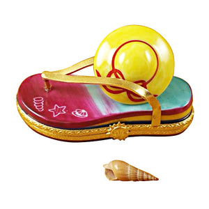 Flip Flop with Hat Limoges Box
