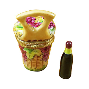 Wine Carrier with Bottle Limoges Box