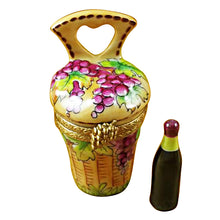 Load image into Gallery viewer, Wine Carrier with Bottle Limoges Box