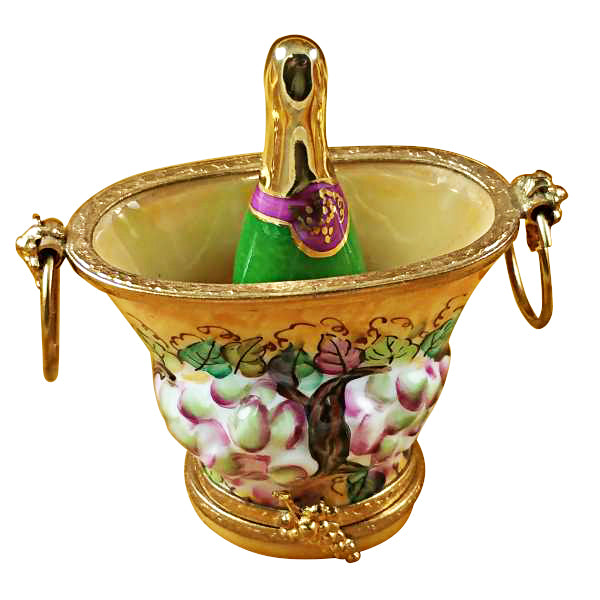 Champagne Bucket with Grapes Limoges Box