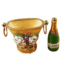 Load image into Gallery viewer, Champagne Bucket with Grapes Limoges Box