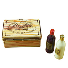 Load image into Gallery viewer, Wine Crate with 2 Bottles Limoges Box