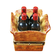 Load image into Gallery viewer, Crate of 4 Wine Bottles Limoges Box