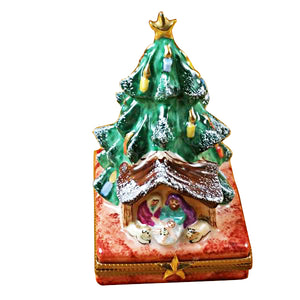 Tree with Manger Limoges Box