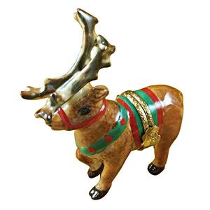 Reindeer with Antlers Limoges Box