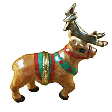 Load image into Gallery viewer, Reindeer with Antlers Limoges Box
